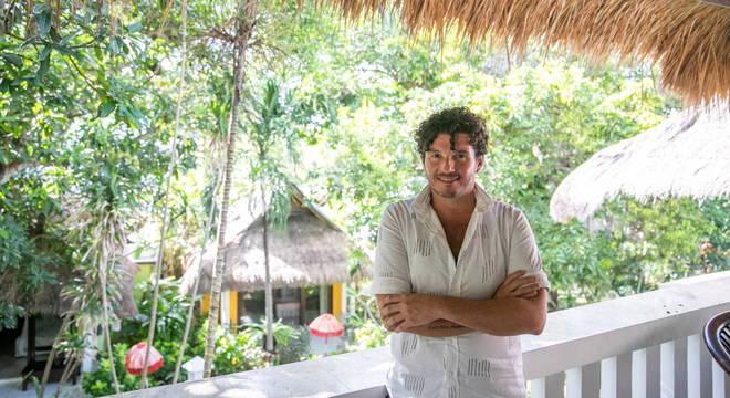 O argentino Federico Brunello escolheu ir para Bali depois que voo foi cancelado