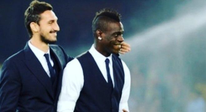 Astori e Balotelli jogaram juntos na seleção da Itália