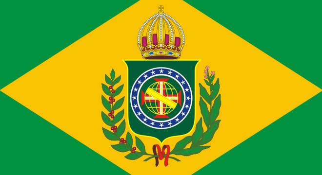 Bandeira do Brasil na época do Império