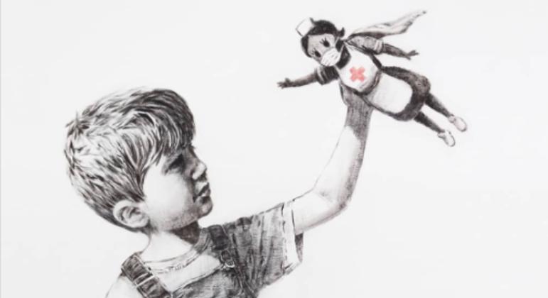 'Game Changer', a obra de arte que o britânico Banksy levou para doação