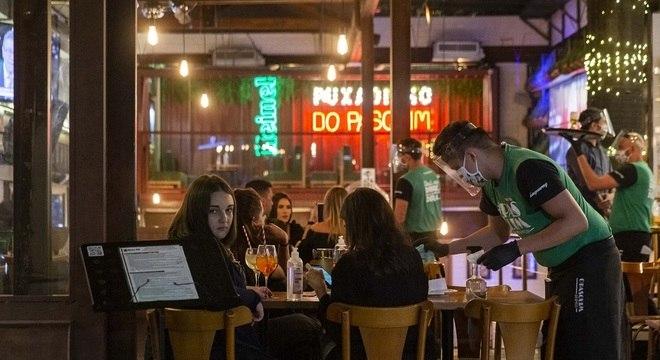 Bar na Vila Madalena, zona oeste de São Paulo