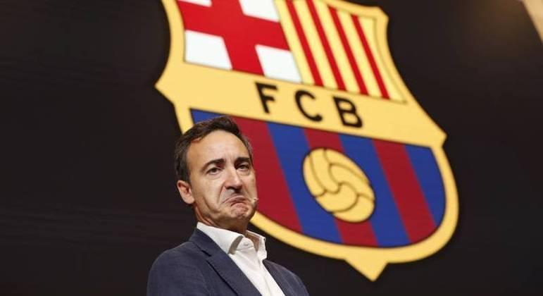 Diretor-geral do clube catalão, Ferran Reverter, durante a auditoria
