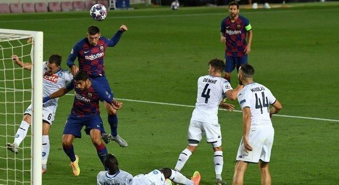 O momento da testada de Lenglet, Barcelona 1 X 0