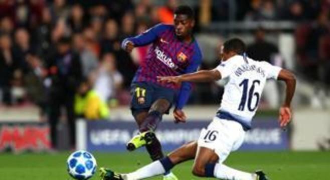 Barcelona, a conclusão do lance fenomenal de Dembelé