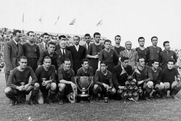 Barcelona 5 x 0 Real Madrid - 25 de março de 1945 - Campeonato Espanhol - Estádio Les Corts