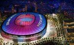 Casa do Barcelona desde 1957, o Camp Nou já passou por algumas reformas ao longo da história. Maior estádio da Europa e quarto maior do mundo, com capacidade de pouco mais de 99 mil lugares, o clube apresentou o projeto
