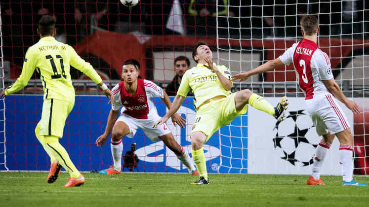 Barcelona x Ajax - 2014/15 - Primeiro no Grupo F - Duas vitórias (3 x 1 e 2 x 0) sobre o Ajax