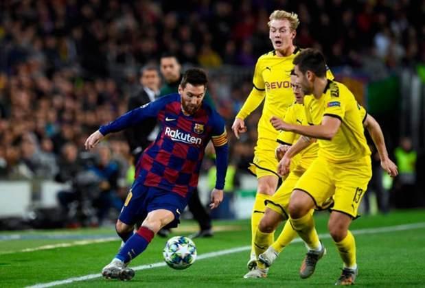 Barcelona x Borussia Dortmund - 2019/20 - Primeiro no Grupo F - Um empate (0 x 0) e uma vitória (3 x 1) sobre o Borussia Dortmund
