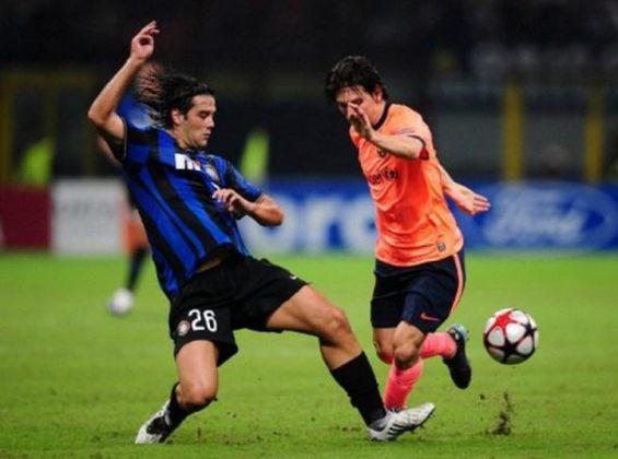 Barcelona x Inter de Milão - 2009/10 - Primeiro no Grupo F - Um empate (0 x 0) e uma vitória (2 x 0) sobre a Inter de Milão
