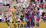 Um dos destaques foi a volta de Ansu Fati aos gramados após mais de 11 meses. O novo camisa 10 do Barça foi coroado com um gol na sua primeira partida após o retorno