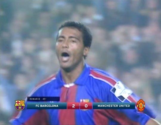 Barcelona x Manchester United - 1994/95 - Segundo no Grupo A - Um empate (2 x 2) e uma vitória (4 x 0) sobre o Manchester United