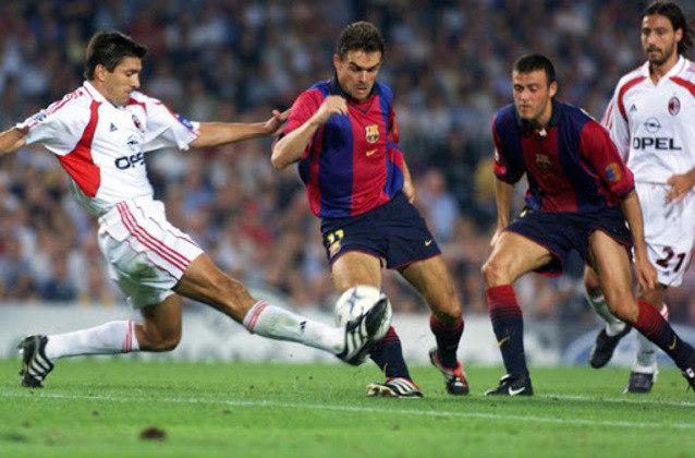 Barcelona x Milan - 2000/01 - Terceiro no Grupo H - Uma derrota (2 x 0) e um empate (3 x 3) com o Milan