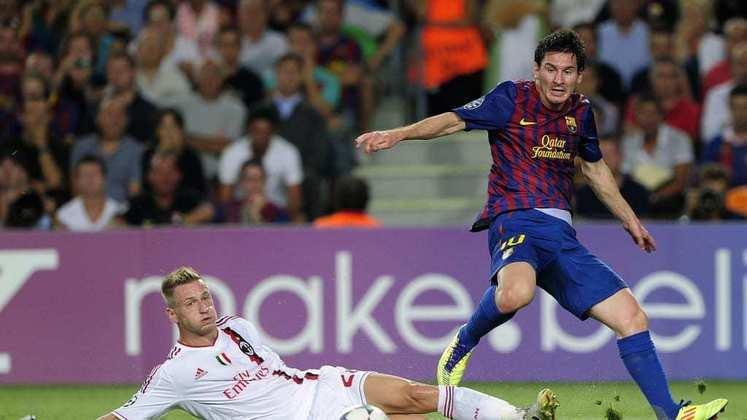 Barcelona x Milan - 2011/12 - Primeiro no Grupo H - Uma vitória (3 x 2) e um empate (2 x 2) com o Milan