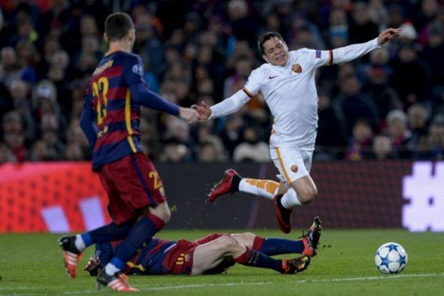 Barcelona x Roma - 2015/16 - Primeiro no Grupo E - Um empate (1 x 1) e uma vitória (6 x 1) sobre a Roma