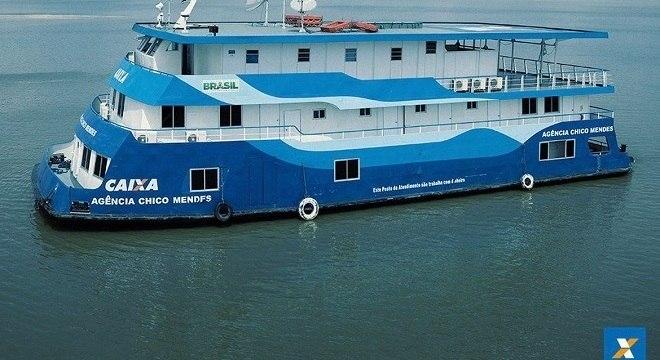 Cidades ribeirinhas da Amazônia e Pará recebem as agências-barco