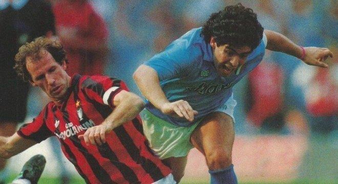 Baresi X Maradona, Milan X Napoli, 1988