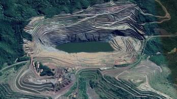 __Barragem da Vale em MG tem movimentação de 9 cm por dia__ (Reprodução / Google - Street View)