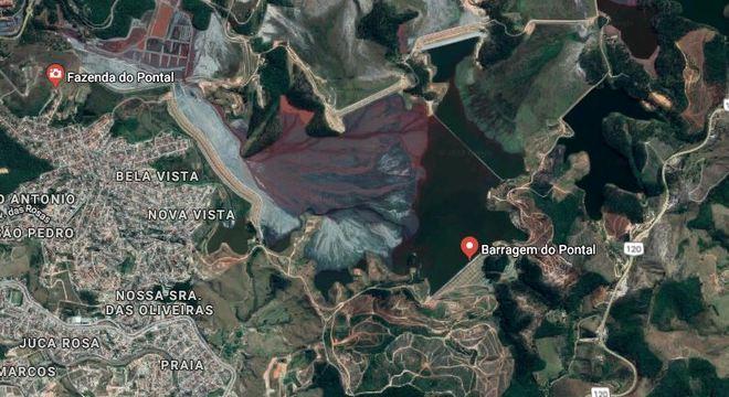 Barragem do Pontal é uma das que pode atingir moradores em caso de rompimento