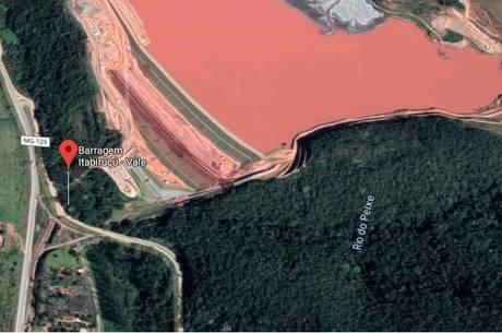 Barragem fica na cidade de Itabira (MG)