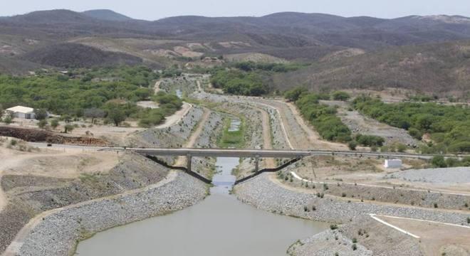 Barragem de Jati, no município homônimo, no Ceará
