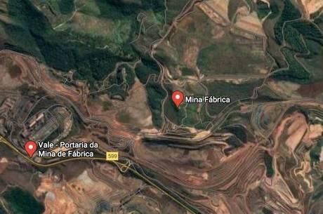 Vale fará manutenção em barragens da Mina da Fábrica