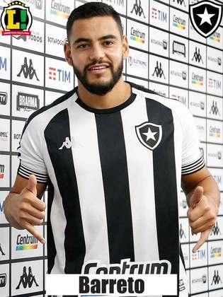 BARRETO - 5,5 - Teve um início promissor, no qual ajudou a proteger a marcação. No entanto, aos poucos foi caindo de rendimento e deixou o Botafogo vulnerável aos ataques adversários.