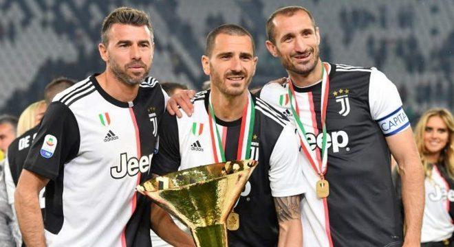 """O trio """"BBC"""", Barzagli-Bonucci-Chiellini"""