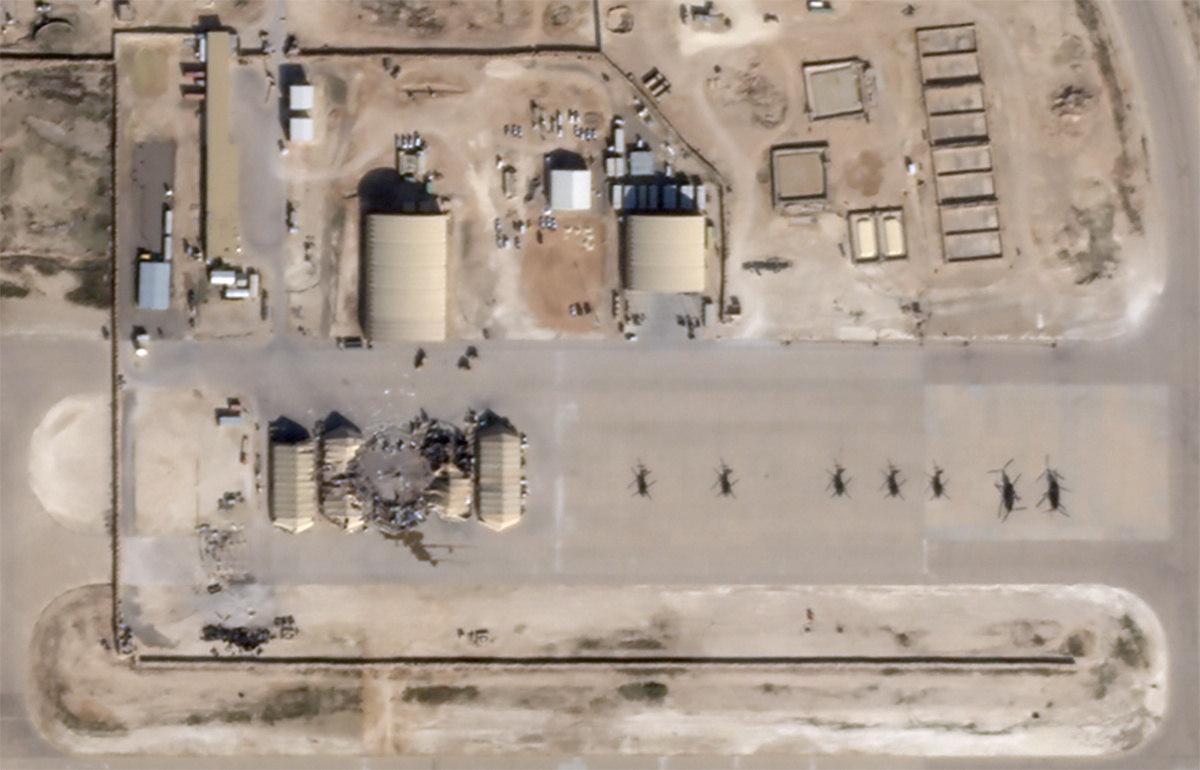"""""""Há outras estruturas na área de base que seriam exclusivas das pessoas, por isso eles (iranianos) podem ter tentado atingir locais com equipamentos em vez de pessoas"""", afirmou o especialista"""