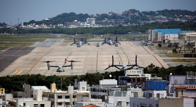Base Aérea da Marinha dos EUA em Okinawa, no Japão