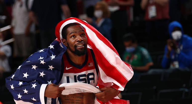 Kevin Durant foi o grande nome do time norte-americano