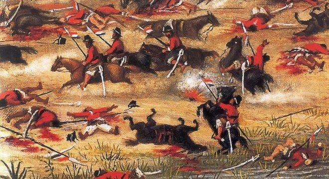 Chamada de 'Guerra de la Triple Alianza' no Paraguai, o conflito dizimou metade da população do país