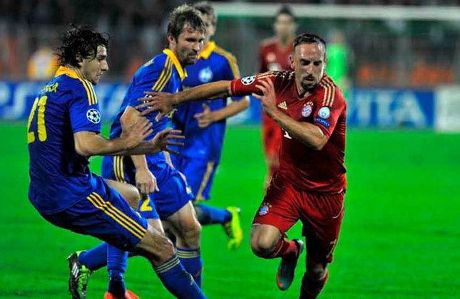 BATE Borisov 3 x 1 Bayern de Munique - Fase de grupos da Champions League de 2012/2013 - Data - 02/10/12 - Estádio - National Olympic Stadium Dinamo