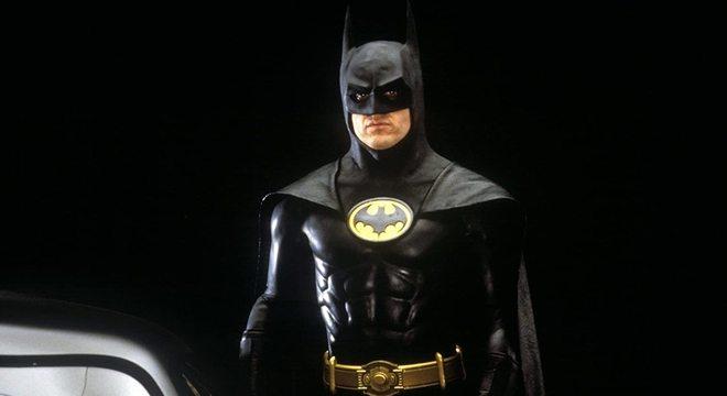 Michael Keaton em foto de divulgação do filme do Batman dos anos 80
