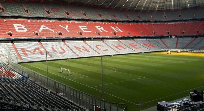 A Allianz Arena, de portões fechados