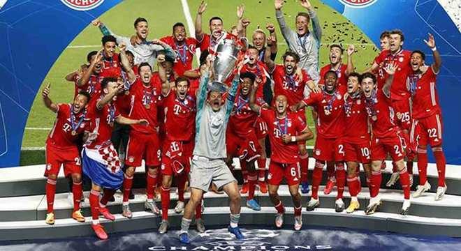 A celebração do Bayern, ganhador da Liga dos Campeões de 2019/2020