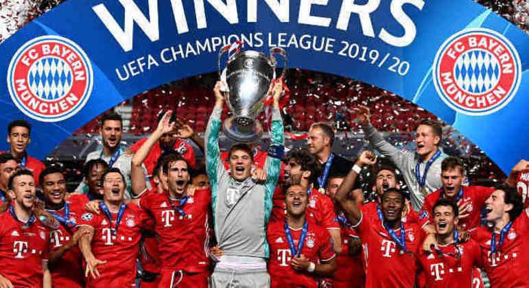 Bayern, o ganhador da LC em 2019/2020