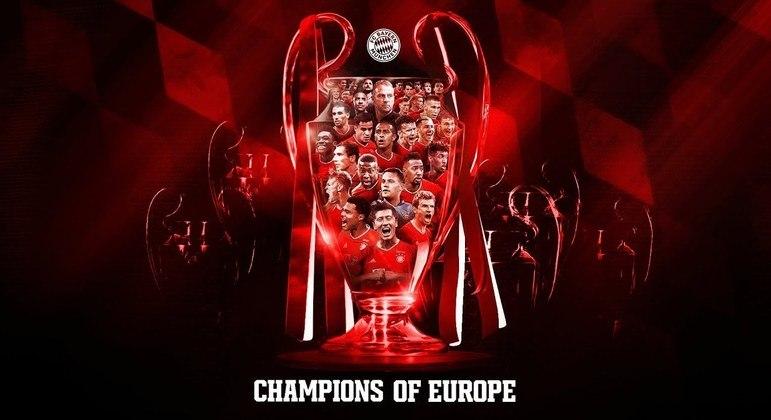 A capa do Twitter do Bayern, o detentor do troféu