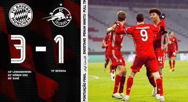 Bayern, o detentor do troféu, promovido às oitavas com longa antecipação