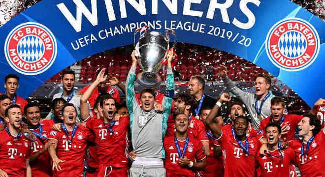 O Bayern, ganhador da Liga em 2019/2020