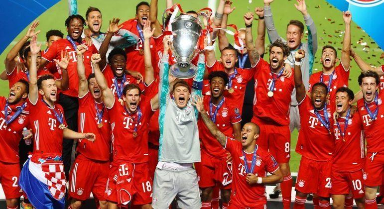 A festa do Bayern, campeão de 2019/20