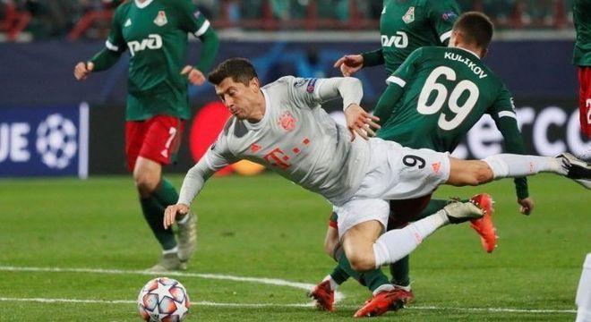 Lewandowski, do Bayern, contra a Lokomotiv