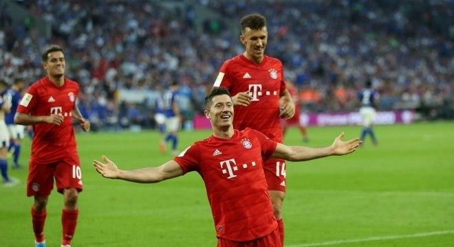 Lewandowski, do Bayern, é a grande estrela atual do Campeonato Alemão