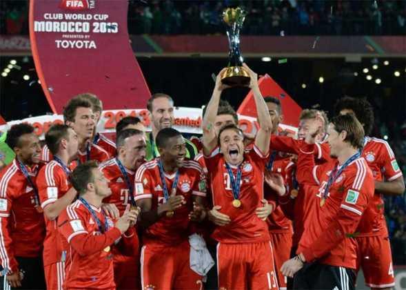 Bayern de Munique - 2013 - O atual campeão da Liga dos Campeões já sabia o caminho da tríplice coroa. Em 2013, o Bayern de Munique conquistou a Champions League, Bundesliga, Copa e Supercopa da Alemanha, e Mundial de Clubes.