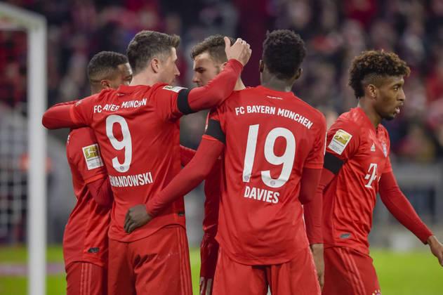 Bayern de Munique - Neuer, Pavard, Süle, Alaba, Davies; Kimmich, Goretzka, Gnabry; Müller, Sané e Lewandowski. Técnico: Hans-Dieter Flick.