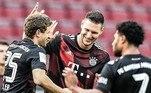 Na Alemanha, o Bayern construiu o placar de 2 a 0 ainda no primeiro tempo, com gols de Gnabry e Muller. Mas, na segunda etapa, o Colônia não se deu por vencido e chegou a esboçar uma reação, com o gol de Dominick Drexler, que sacramentou o 2 a 1 como placar final da partida
