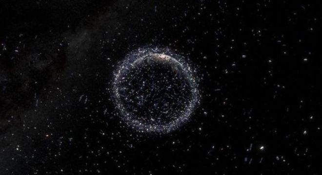 Agências espaciais como a Nasa e a ESA rastreiam detritos e lixo que orbitam a Terra, caso isso represente um risco para naves espaciais
