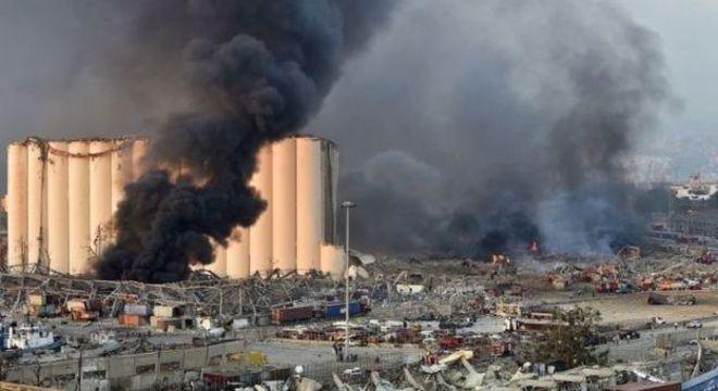 Explosão aconteceu em área portuária de Beirute, onde há vários armazéns