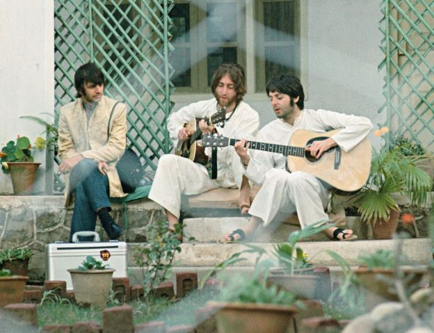 Paul Saltzman Saltzman tirou essa foto quando Lennon e McCartney compunham Ob-La-Di, Ob-La-Da