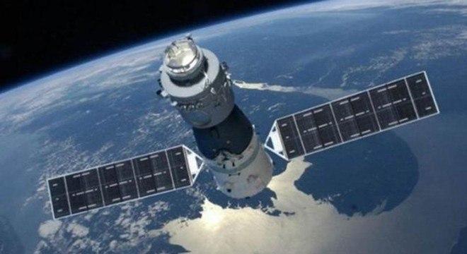 Outra imagem da Tiangong-1: a estação espacial estava desocupada desde 2013 e sem funcionar desde março de 2016