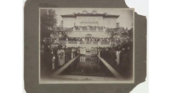 Convenção de vendedoras realizada na Villa Lewaro, a mansão de Madam C. J. Walker